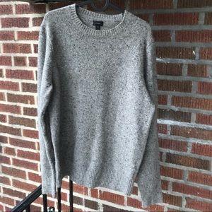 J Crew Gray Crew Neck Knit Sweater